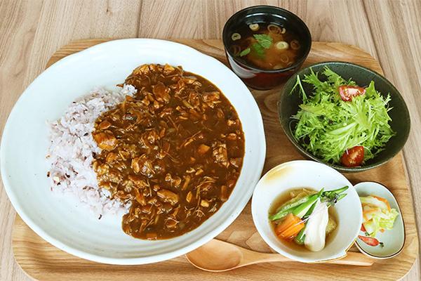 チキン煮込みの雑穀カレー定食